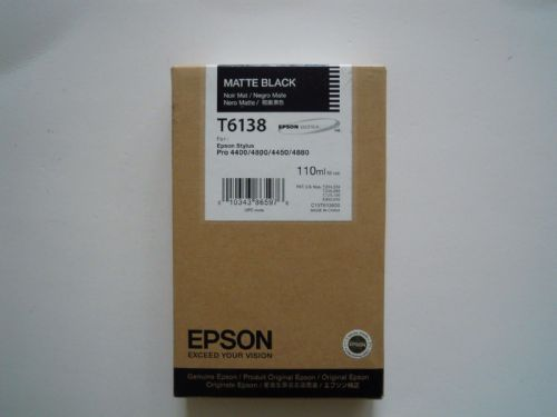 Epson ink cartridge T6138 For Stylus Pro 4400/4800/4450/4880  Matte Black 110ML